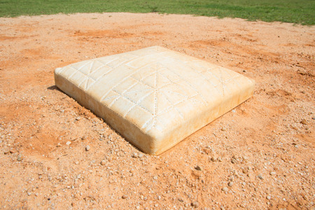 infield: base on infield of a baseball field