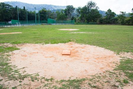 pitchers mound: view of softball field