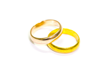 rings  isolated on white background Stock Photo