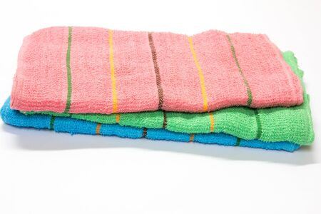 absorb: Bath towel on white background Stock Photo