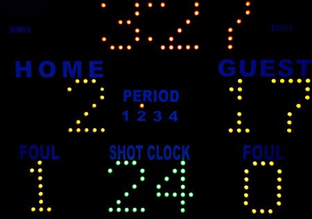 Basketball Scoreboard photo