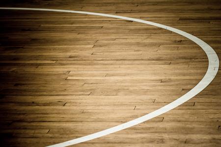 wooden floor basketball court photo