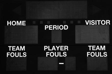 Scoreboard electronic photo