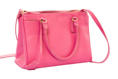 pink bag isolated on white background photo
