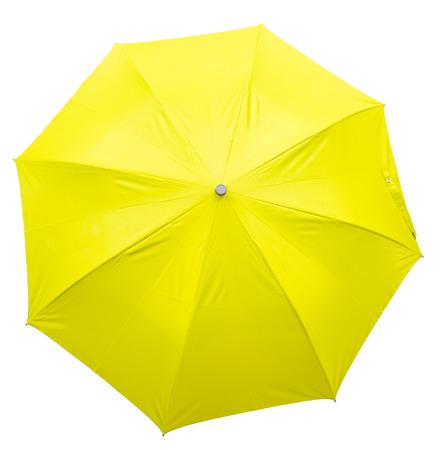converging: umbrella on white background Stock Photo