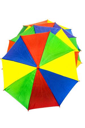 umbrellas on white background