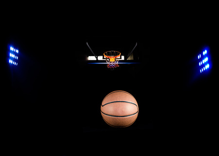 Basketball sports with floodlights photo