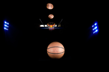 floodlights: Basketball sports with floodlights