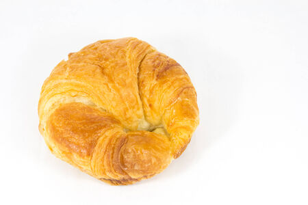 croissant on white background photo