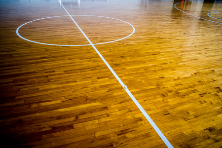 wooden floor basketball court photo