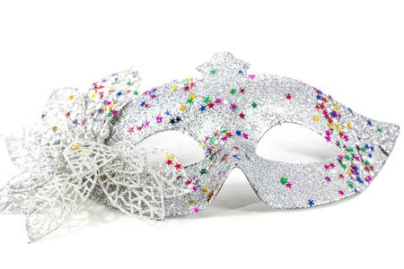 mascara de carnaval: Máscara de carnaval decorado con diseños sobre un fondo blanco