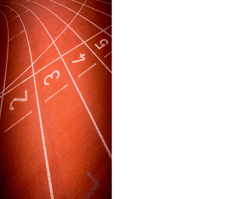 Abstract  running track rubber standard red color