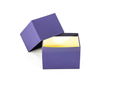 Package blue box package on white background Stock Photo