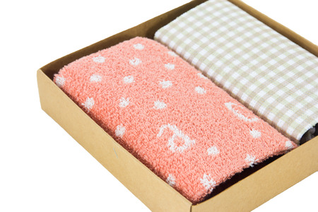 hanky: Handkerchief isolated in the box Stock Photo