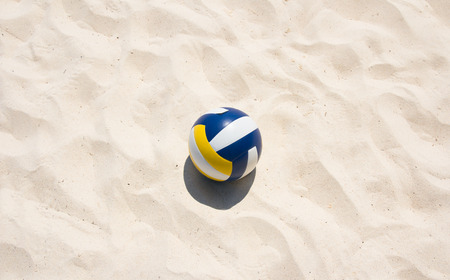 Volley-ball sur la plage Banque d'images - 35939734