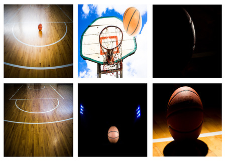 Basketball court floor as a sports Banco de Imagens