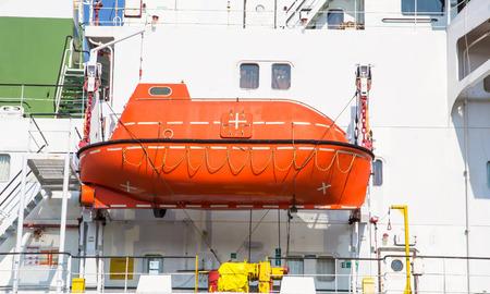 lifeboat: lifeboat on a cargo ship