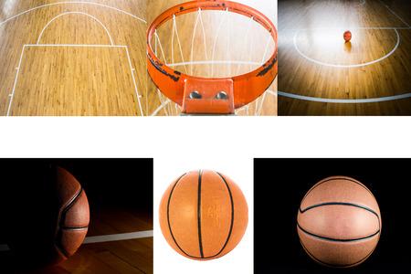 Basketball court floor as a sports photo