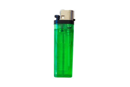 disposable gas lighter on white background Imagens