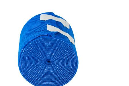 white bandage: Close up elastic bandage isolated white background Stock Photo