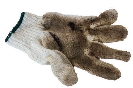 Dirty gloves isolated on a white background photo