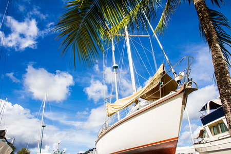 beached: image of yacht in the pier