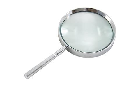 흰색에 돋보기 스톡 콘텐츠