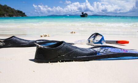siam: Snorkelling on siam bay PhuketThailand Stock Photo