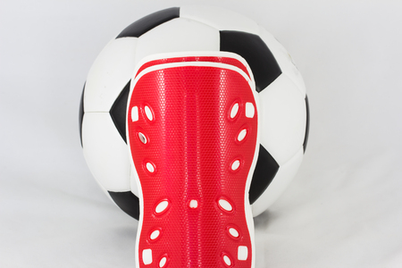 accidental: device used to prevent accidental athlete in competitive soccer Stock Photo