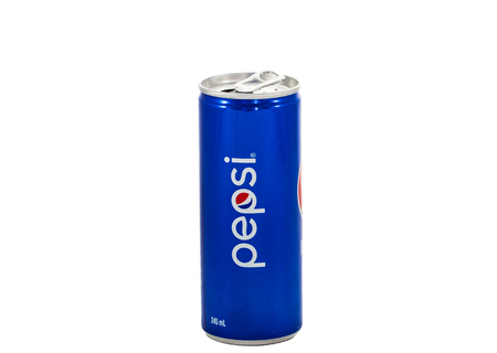 carbonated drink: HATYAI THAILAND  JUN o6 2015: Pepsi can 245ml in Thailand. Pepsi is a carbonated soft drink produced and manufactured by PepsiCo.