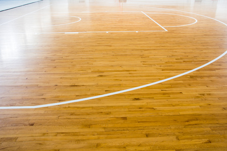 Wooden Floor Basketball Court Stock Photo Picture And Royalty Free