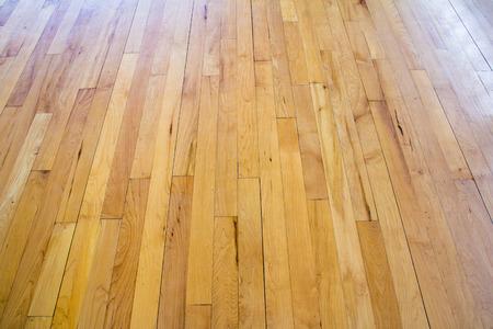 木製の床のバスケット ボール コート 写真素材