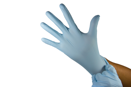 protective gloves: protective gloves isolated on white background