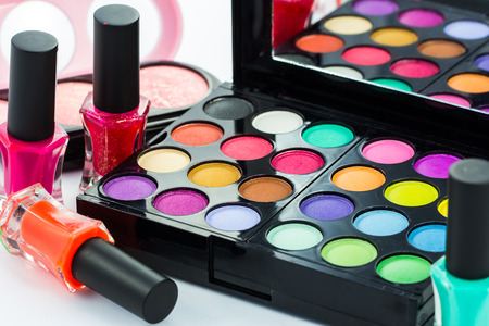 cosmetic product: Close up make-up collage