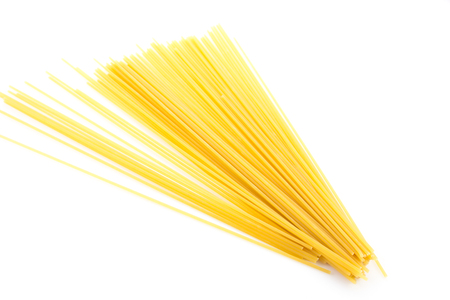 dry pasta isolated on a white Standard-Bild