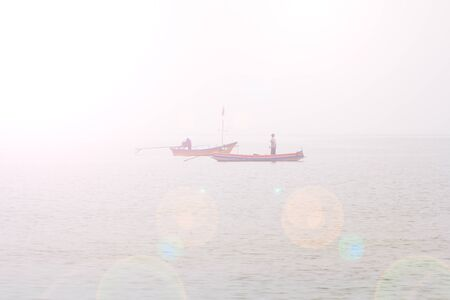 commercial fisheries: fishing boat on the sea
