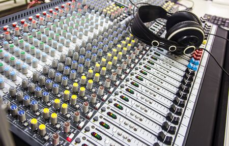control panel lights: sound music mixer control panel