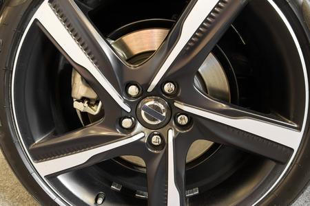 alloy wheel: close up alloy wheel Stock Photo