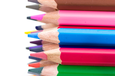 gradation art: close up color pencils