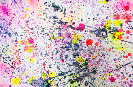 Abstract watercolor paint splash on paper background Banque d'images