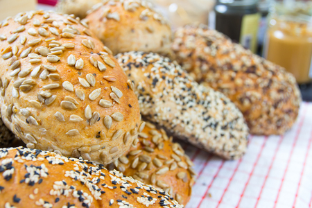 free dish: Bread made from whole grain