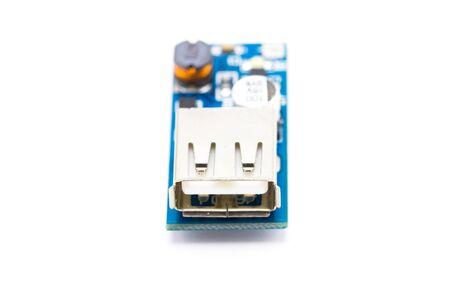 switcher: macro photo of electronic circuit