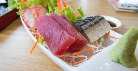 sashimi: sashimi set Stock Photo