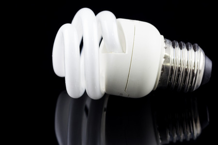 electric bulb: Electric bulb on black background Stock Photo