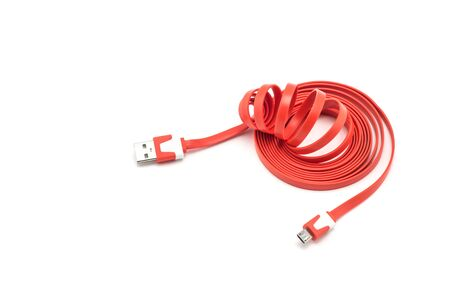 interconnect: Cable connector USB on white background Stock Photo