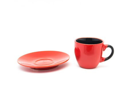 red cup: Red cup on white background Stock Photo