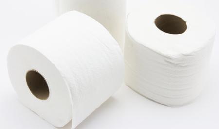 white background: tissue on white background Stock Photo