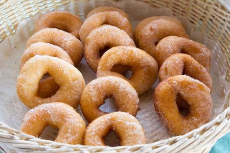 good cholesterol: donut in wicker basket