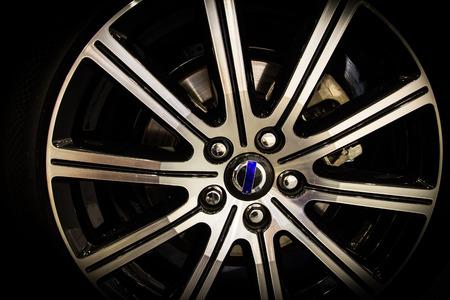 alloy: close up alloy wheel Stock Photo