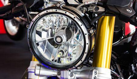 head light: head light of motorcycle Stock Photo